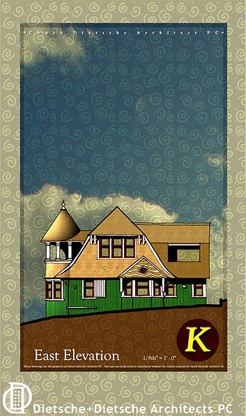 Architectural drawing Shingle Style cottage  Dietsche + Dietsche