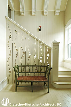 A one-of-a-kind stairway reaches from the future to its Victorian roots.