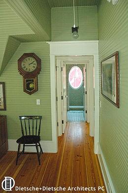 Beaded board hallway perfect green Dietsche + Dietsche Architects PC