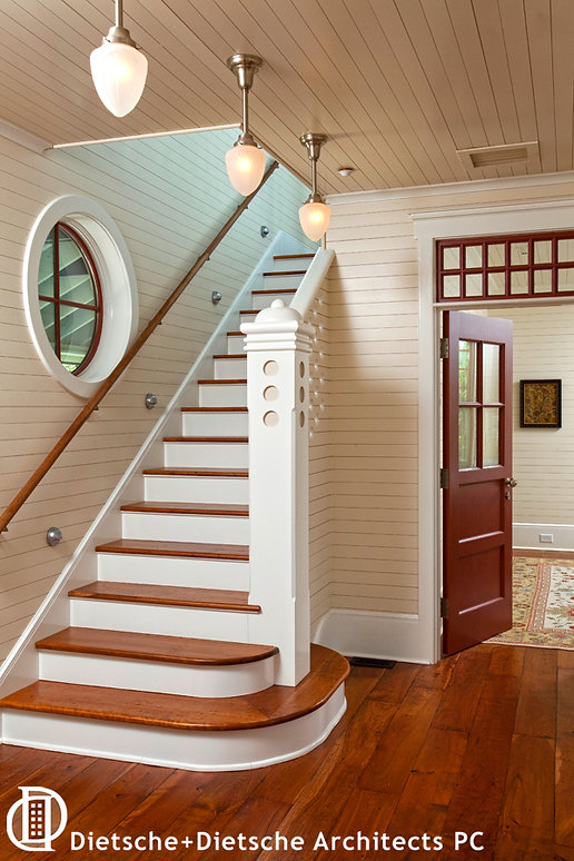 Elegant cottage staircase