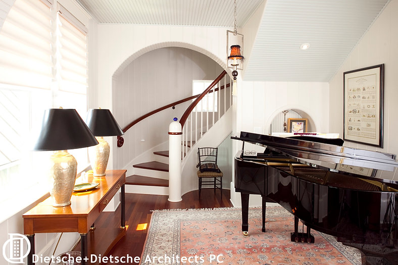 Double helix stair case by Dietsche + Dietsche