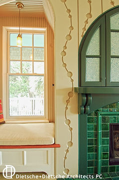 Jewel box cottage-detail enliven the spacious interior.