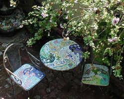 """""""Fish Waves"""" table set (Sold)"""