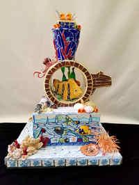 Seascape Wedding Cake