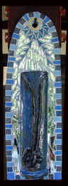 Blue Wall Hanging Vase - $250.00