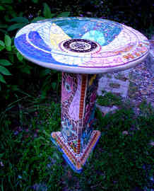 """The Path"" Birdbath  (Sold)"