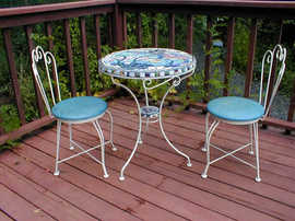 """Aqua Bistro"" table top (Sold)"