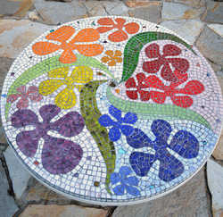 """""""Dancing Flowers"""" tabletop (not for Sale)"""
