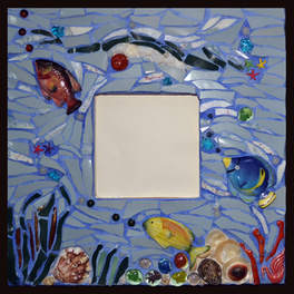 """""""Aqua III"""" mirror (Sold)"""