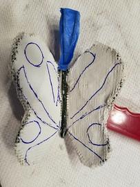 Butterfly's top side