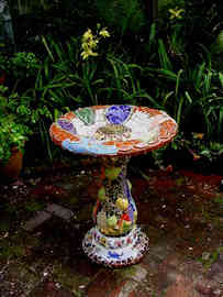 """Horoscope"" Birdbath (Sold)"