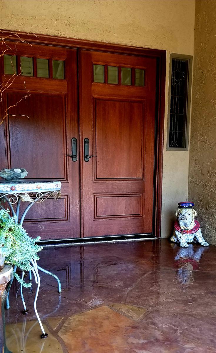 English Bulldog at Client's house