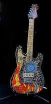 Music in Fire Electric Guitar (sculpture)