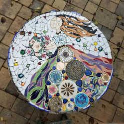 """Flowers Girl"" tabletop (Sold)"