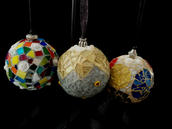 Mosaic Ornaments - $65.00/ea