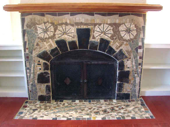 """Firework"" Fireplace"