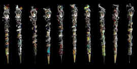Polymer clay pens