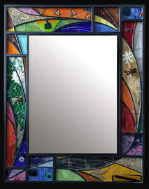 """Cheerful Day"" mirror (Sold)"