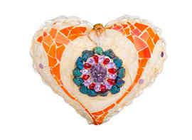 """Heart Delight"" sculpture (Front)  (Sold)"