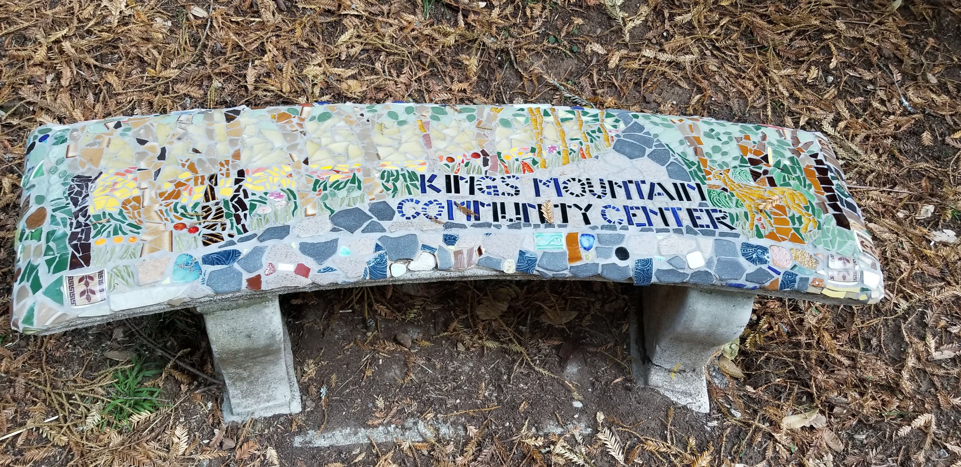 Bench 1- placed at the entrance of Kings Mountain Community Center