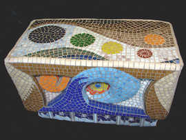 """""""The World of Colors"""" bench - $4,500.00"""