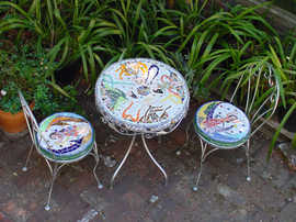"""""""The Dancers"""" table set (Sold)"""