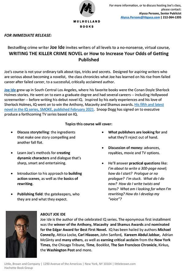 Joe-Ide-writing-course-press-release_Mar