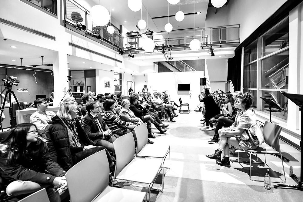 Discussion avec le public, crédit: Maxime Côté