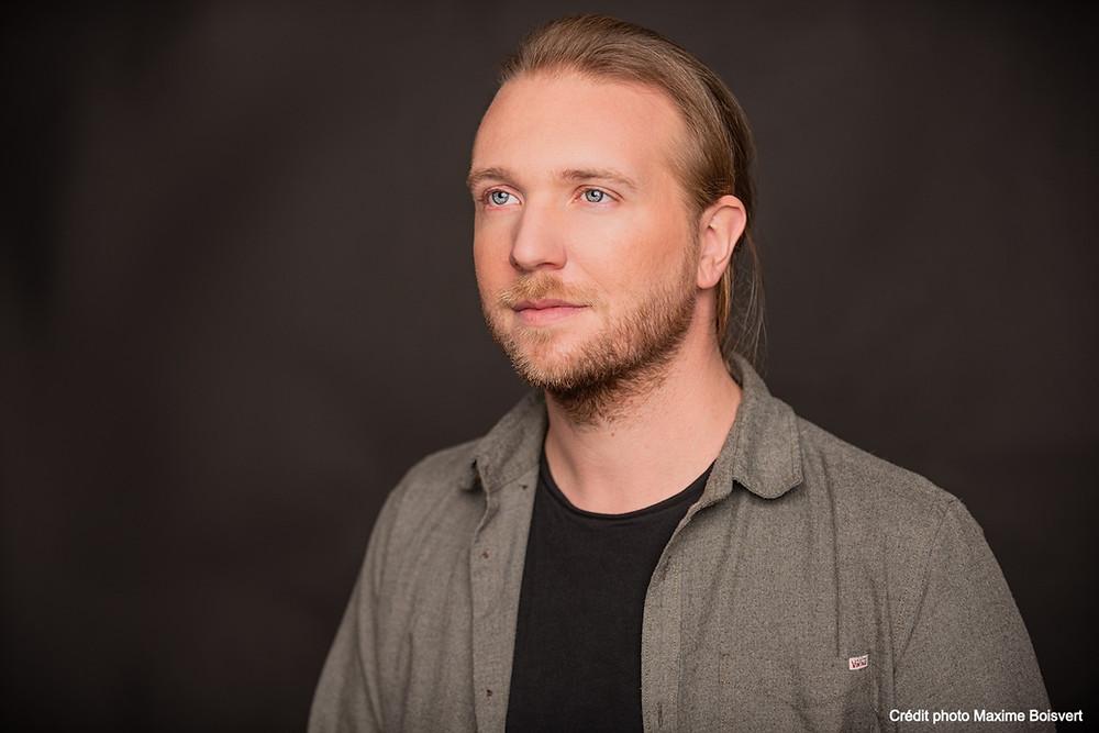 Simon Fréchette-Daoust, Co-directeur artistique du Théâtre de l'Oeil Ouvert, Crédit photo: Maxime Boisvert.