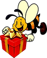 Transparent Party Bee.png