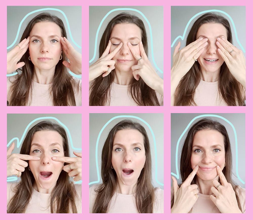 Face yoga, face workouts, face exercises. Gezichtsyoga, gezichtsoefeningen, gezicht oefeningen.