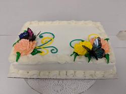 Decor 1/4 Sheet Cake