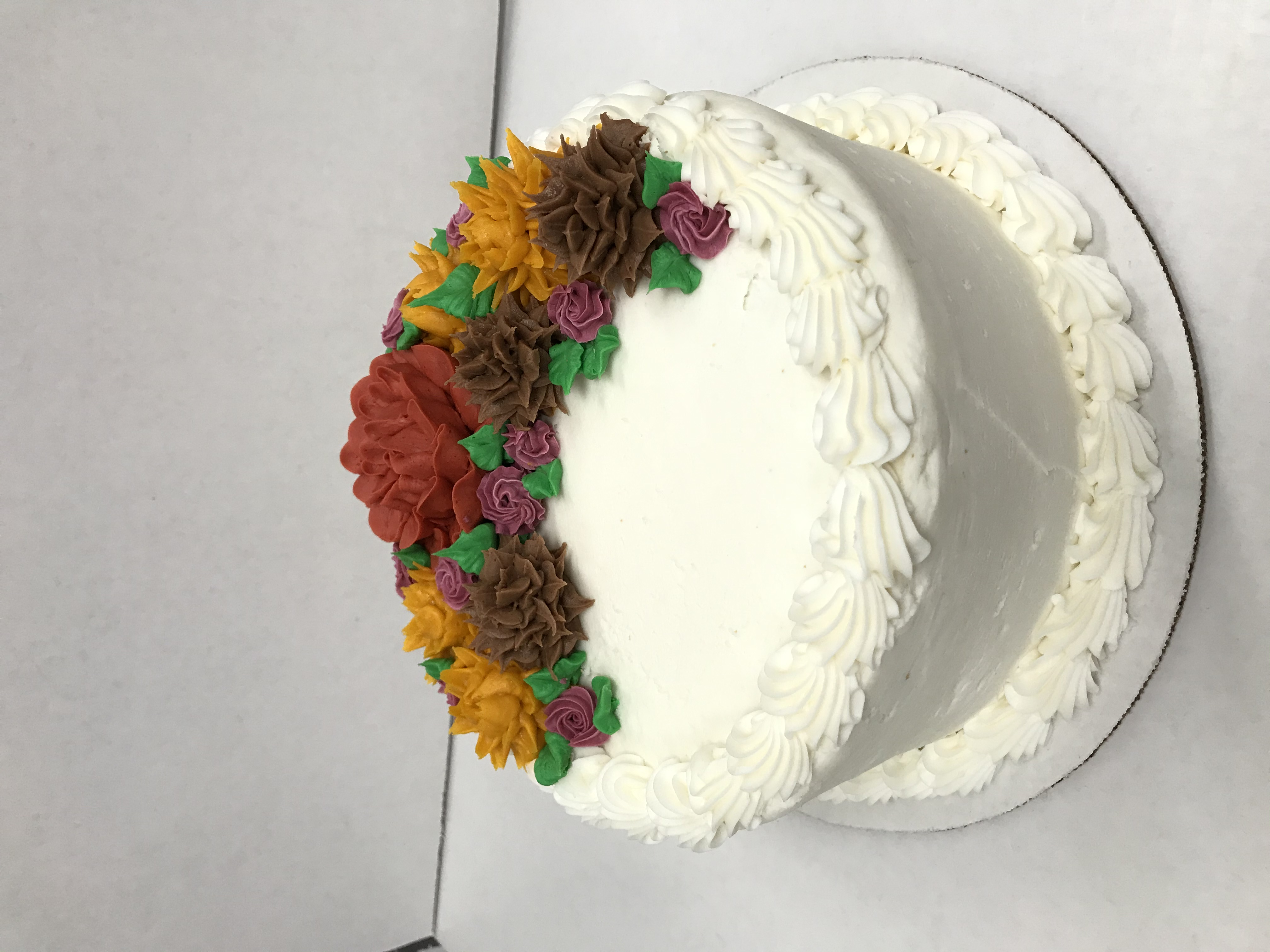 Decorated Fall Cake