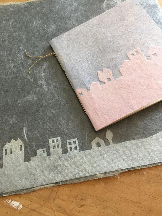 和紙造形WS「町並みノートをつくろう」