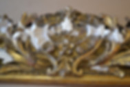 19th century mirror frame, before and after restoration