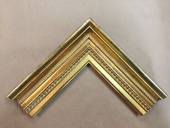 Randall studio offers a selection of custom picture frame moldings that depict period correct profiles and period correct finishes. Gilded moldings can be gilded in different karats ranging for white gold(12kt) up to 23.75kt.