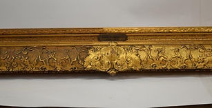 Before and after photos of cleaning gilded picture frames, gilded furniture and gilded objects