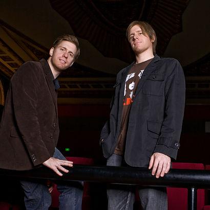P & M Standing in Cinema.jpg