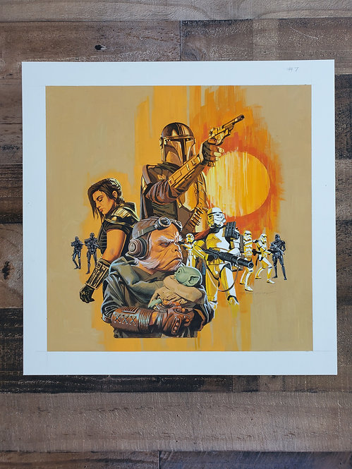 Mandalorian Episode #7 - Original Final Hand Painted Illustration