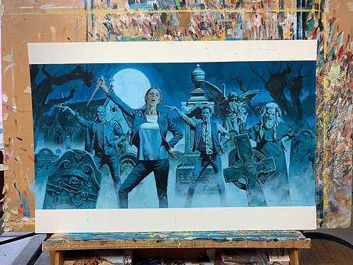 Buffy the Vampire Slayer - Original Final Hand Painted Illustration
