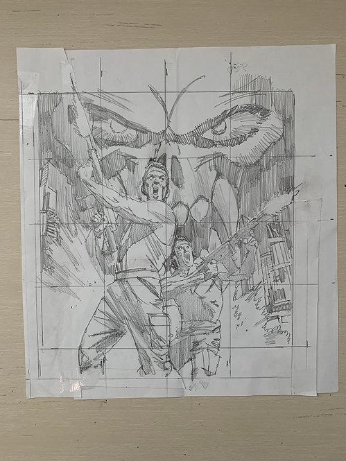 Contra 3 Pencil Sketch