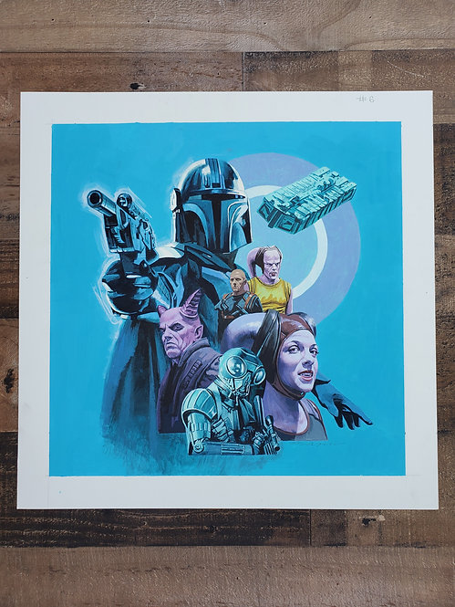 Mandalorian Episode #6 - Original Final Hand Painted Illustration