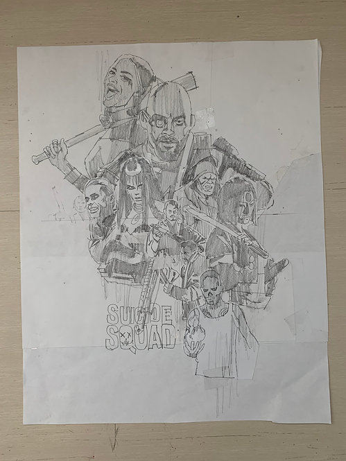 Suicide Squad Pencil Sketch
