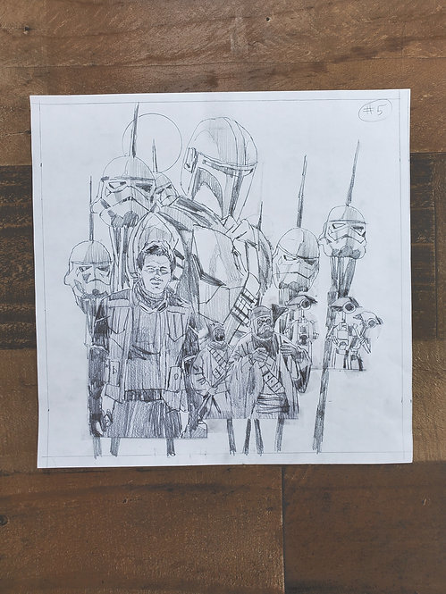 Mandalorian Pencil Sketch - Episode #5