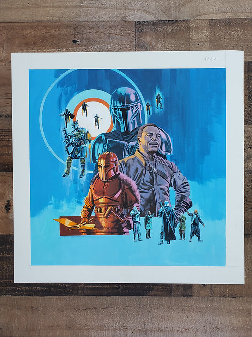 Mandalorian Episode #3 - Original Final Hand Painted Illustration