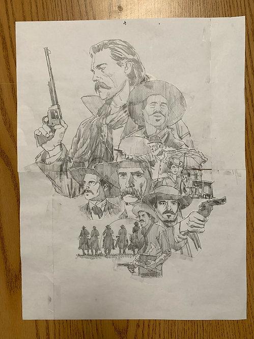 Tombstone Pencil Sketch