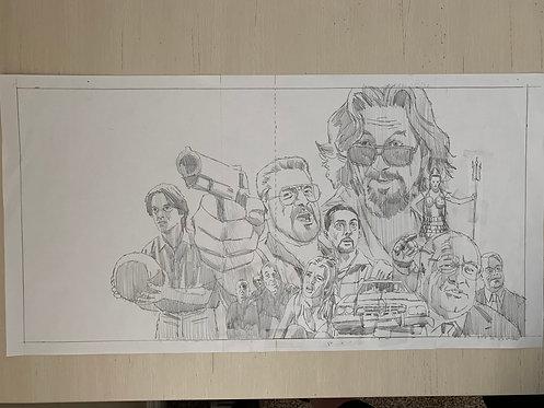 The Big Lebowski Pencil Sketch