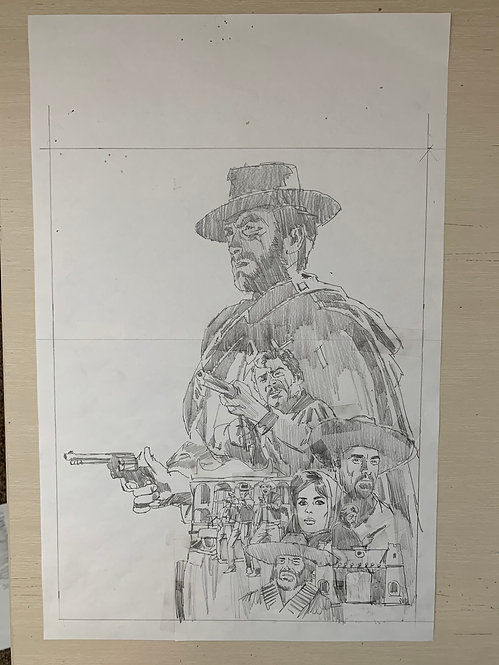 A Fist Full of Dollars Pencil Sketch