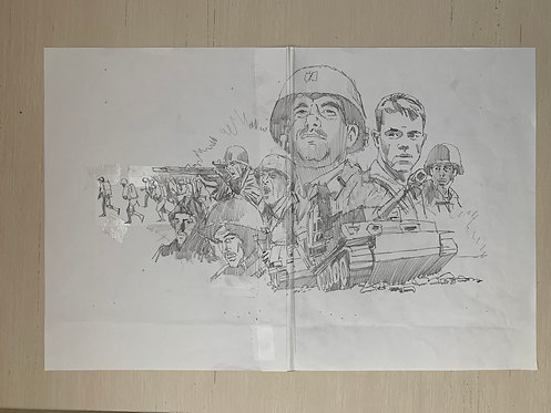Saving Private Ryan Pencil Sketch