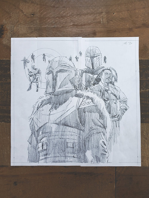 Mandalorian Pencil Sketch - Episode #3 (Variant 3)